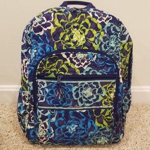 NWT! Vera Bradley Blue Multi Campus Backpack